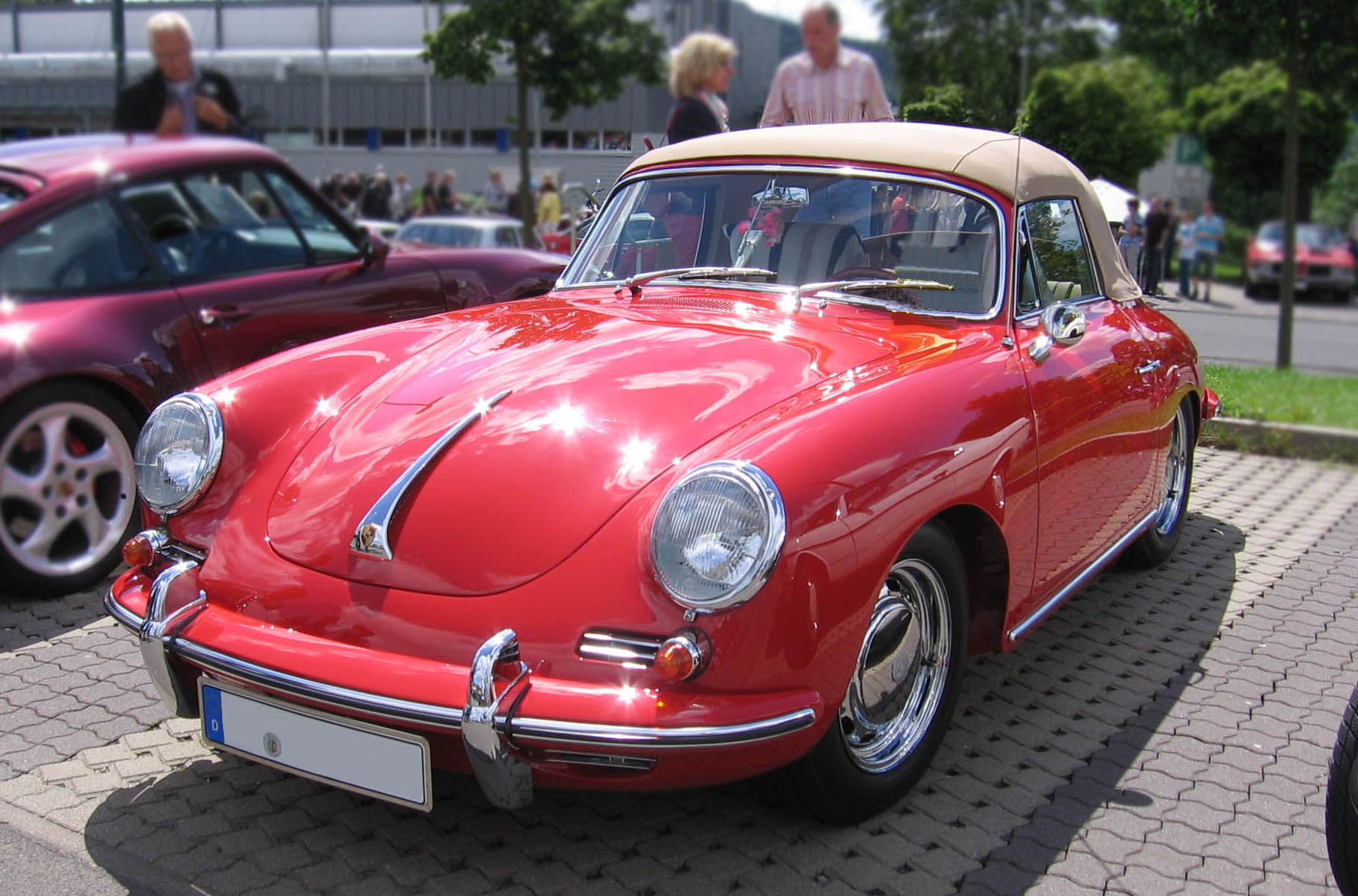 Porsche 356 SC vorne links