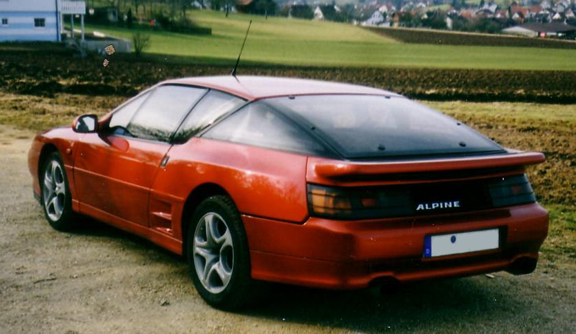 renault alpine a610 hinten links